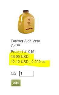 Aloe Gel price discount