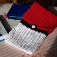 Pochette 3DS XL Pokémon au crochet