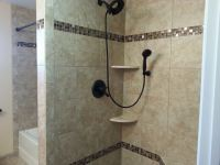 Granite or Marble Shelves with your Custom Tiled Shower