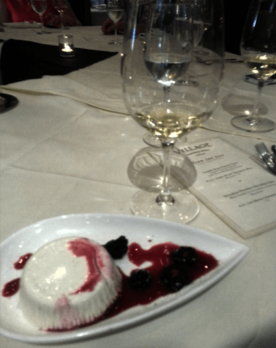 Noble Wrath Sauvingon Blanc '10 with Vanilla Bean Panna Cotta
