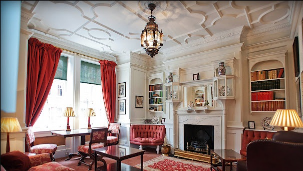library-Draycott Hotel London Chelsea Luxury