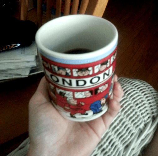 Good coffee in a bloddy ol' mug.