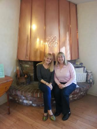 Myself with Carrie, owner of Hofsas House