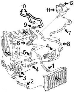 1996 ford 4 9l Schema moteur