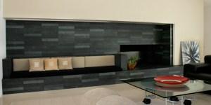 Custom Slate Fireplace