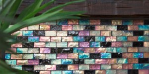 Mosaic Accent Fireplace Wall
