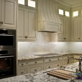 Luxurious iridescent backsplash