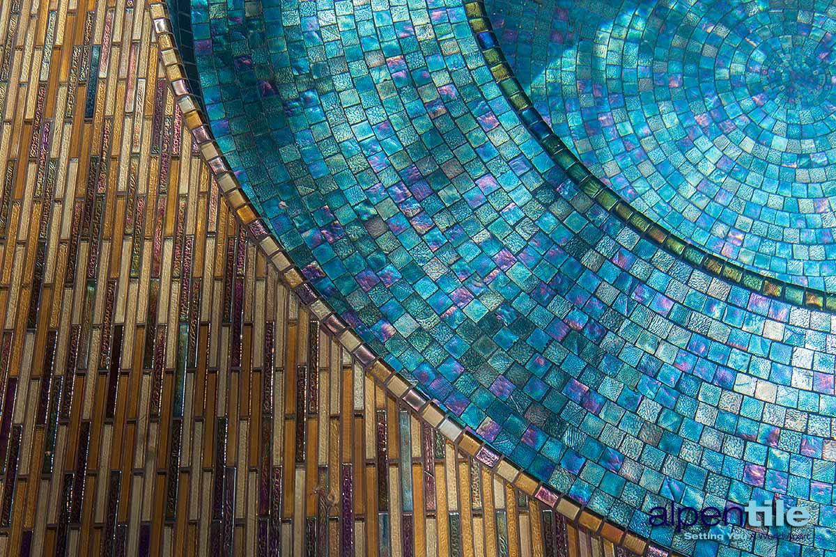 Metallic Glass Mosaic Spa Alpentile Glass Tile Pools And