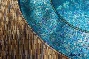 Metallic Glass Mosaic Spa
