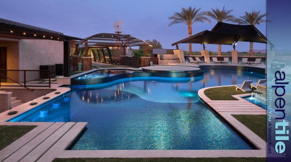 Glass Tile Swimming Pool alpentile