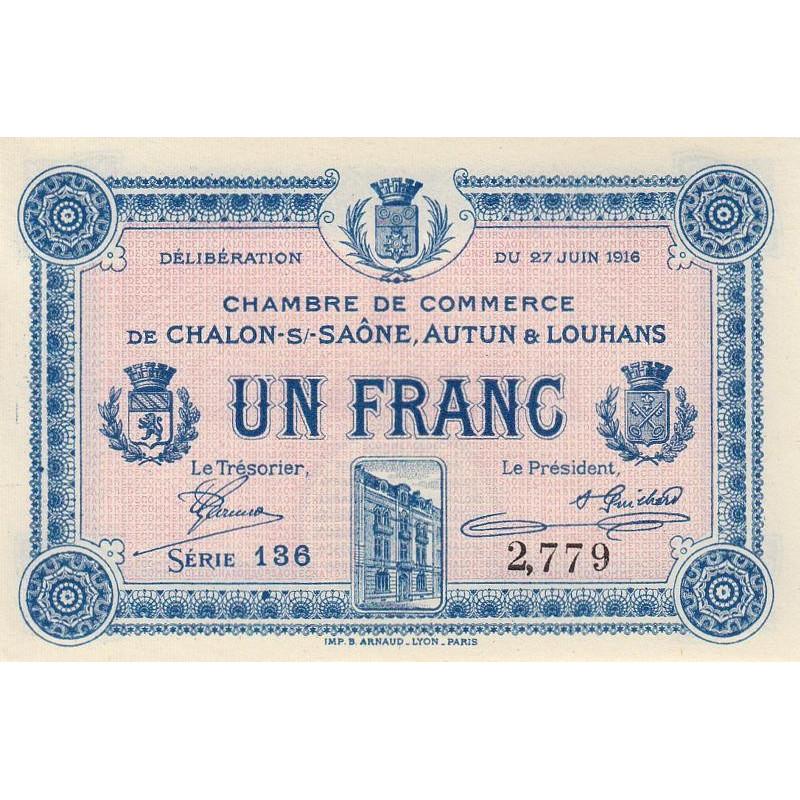 Billet des chambres de commerce - Chalon-sur-Saône - Autun - Louhans - Chambre Du Commerce Chalon Sur Saone