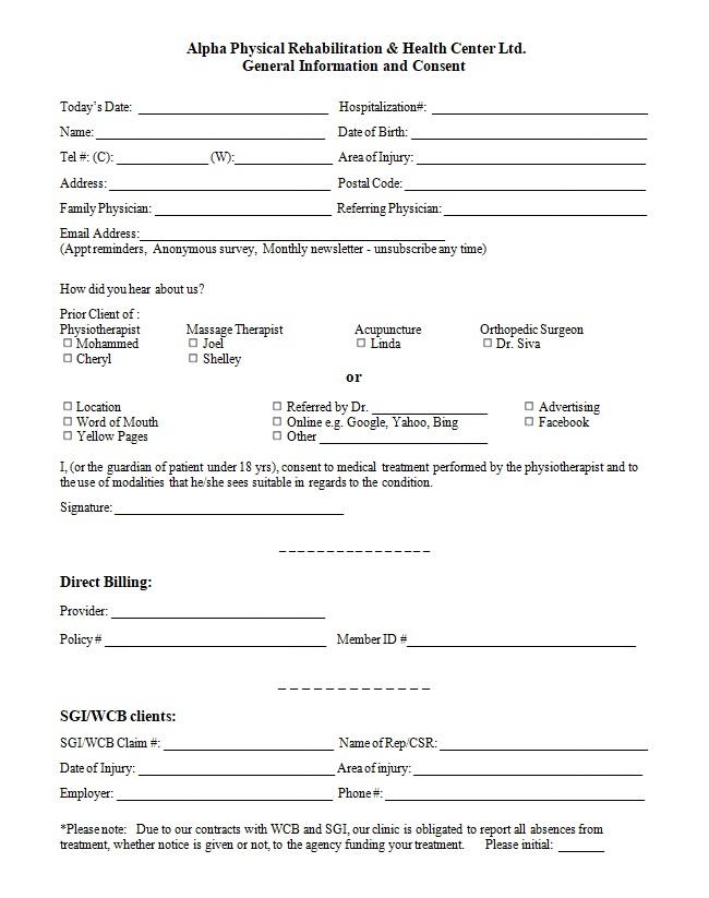 General Consent Form