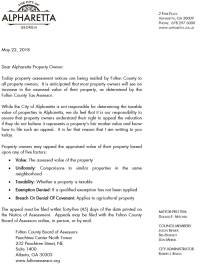 Property Tax Assessment Appeal Letter. sample property ...