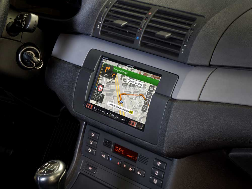 7-inch navigation system designed for BMW 3-series E46 - Alpine