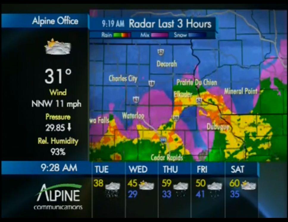 channel 4 weather radar online