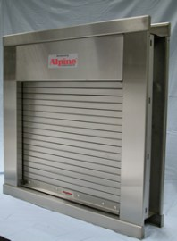 Concession Window Roll Up Counter Shutters Integral Frame