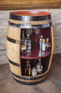 Barrel Bar Cabinet