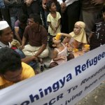 Rohingya refugees in Indonesia who have fled fighting in Burma