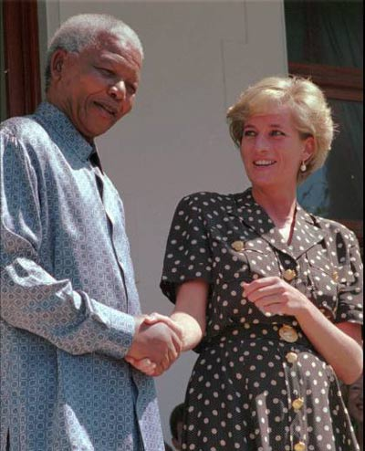 Nelson Mandela and Princess Diana (AP)