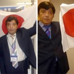 Pictures from Japanese neo-Nazi Kazunari Yamada's website show him posing with Shinzo Abe allies