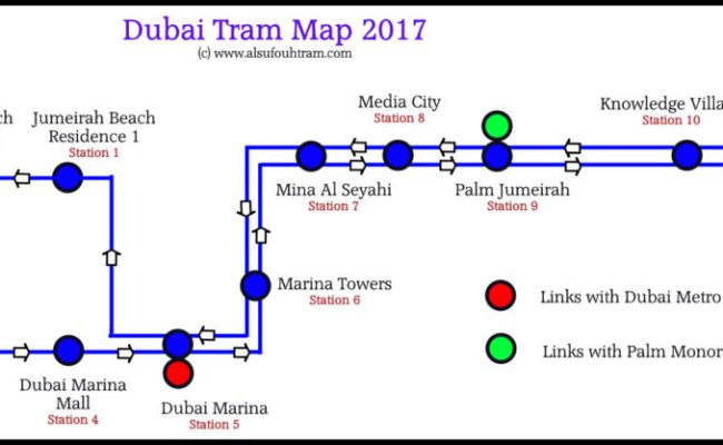 Dubai Tram Map Dubai Tram