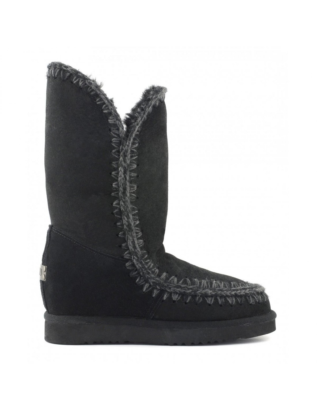Slim Line Eskimo Boots High In Black Mou