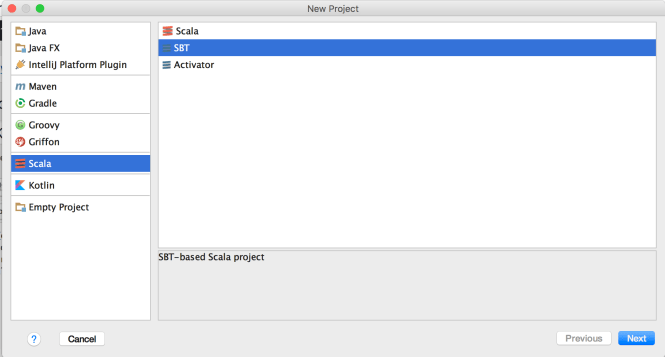 Create Scala SBT Project