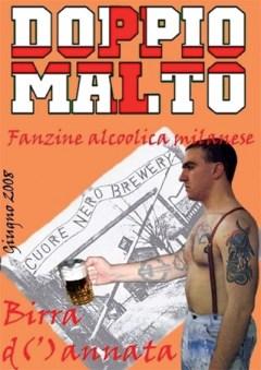 """Der Titel der Juni-Ausgabe 2009 von """"Doppio Malto"""", offizielles Fanzine des Mailänder Neofaschisten-Zirkels """"Cuore Nero""""."""