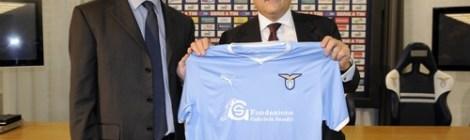 Präsentation des Lazio-Trikots mit Lotito und Cristiano Sandri