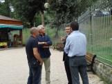 "Mr.Altravita, Giorgio und Cristiano Sandri, Riccardo Bertolin im ""Parco Gabriele Sandri"""