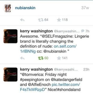 KerryWashington Tweet