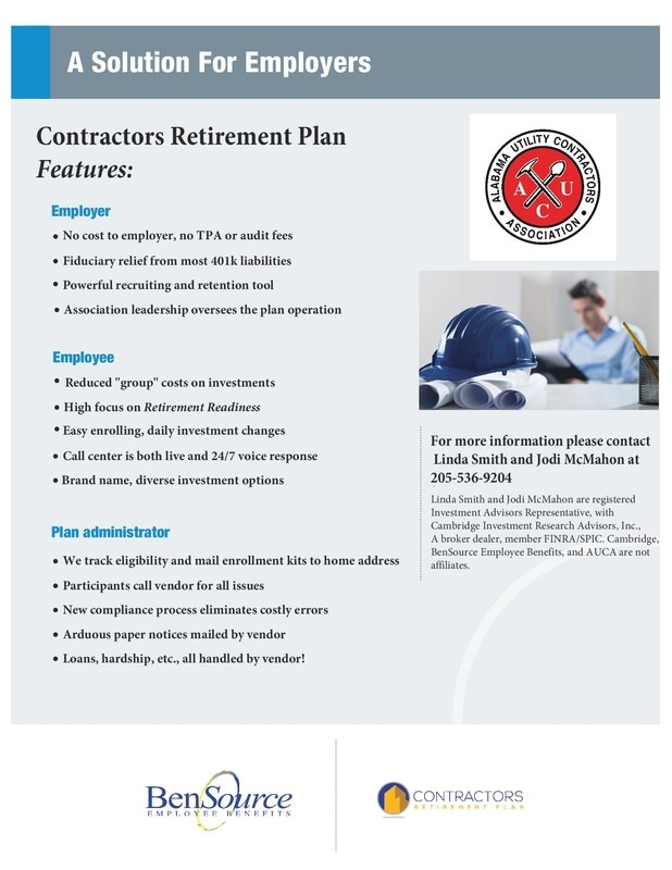 Retirement Plan - ALUCA - retirement program