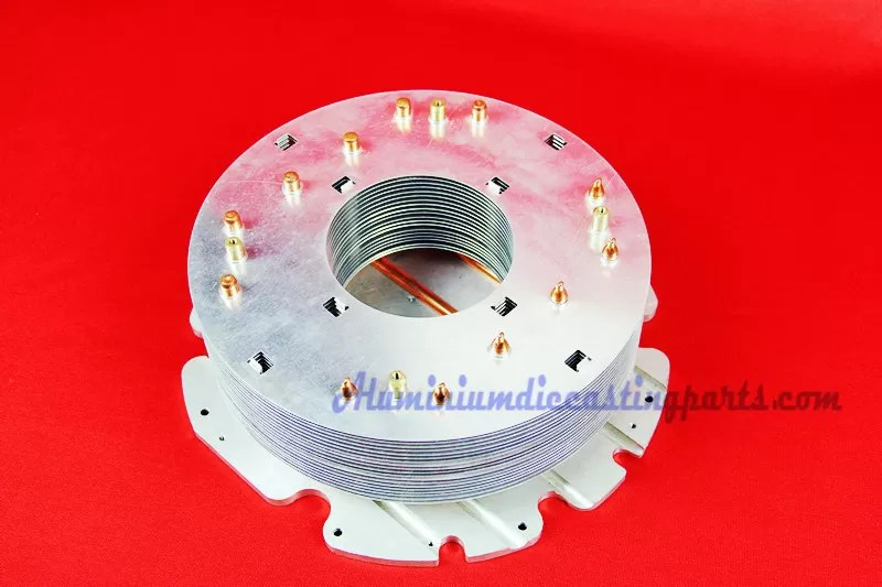 Custom Aluminum Fin Copper Pipe Heat Sink For Flood Light