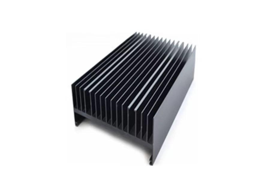 Black Anodizing Finishing Heat Sink Aluminium Extrusion