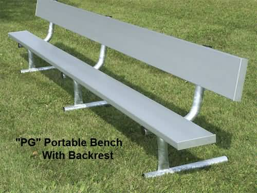 Portable Aluminum Bench With Back Outdoor