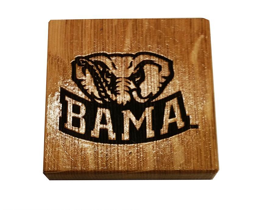 Crimson Tide- Alabama Timeless Etchings Elephant Coasters w/ Bottle