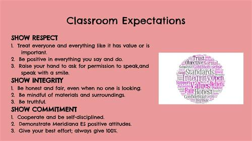 Bachman, Lindsey / Classroom Expectations