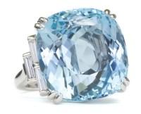 A La Vieille Russie| Cushion-cut Aquamarine and Platinum ...