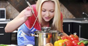 lady cooking  as good as a chef