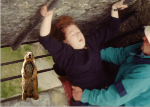 This is a photo of me kissing the Blarney Stone.  Kissing the stone gave me the authority to let you know, no one knows anything about that missing plane.