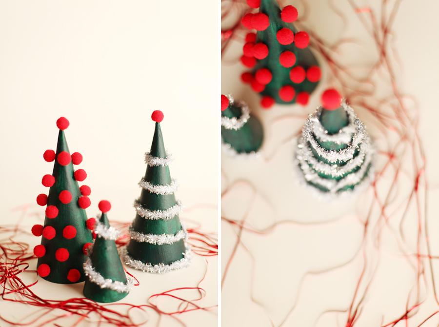 DIY Modern Christmas Tree Decorations - Alyssa and Carla - contemporary christmas decorations