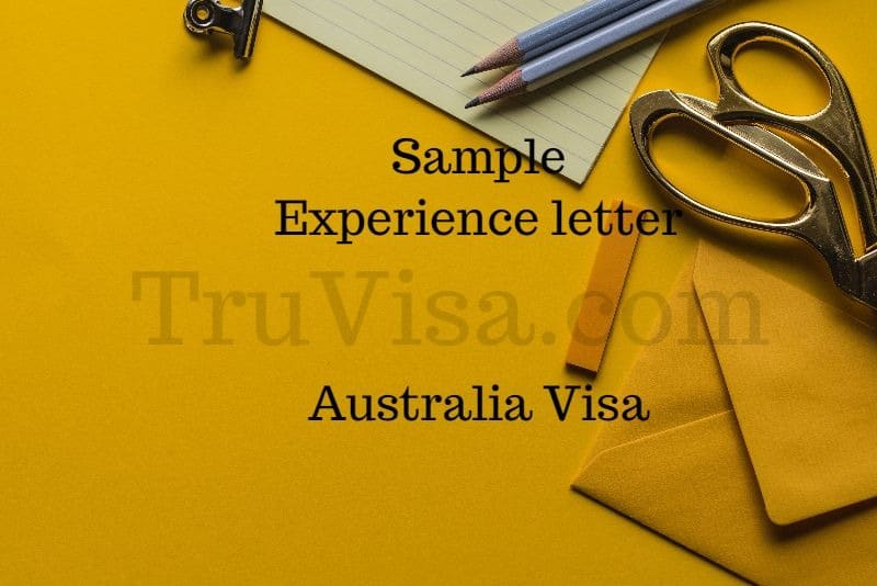 Sample Experience Letter for Australia 189 Visa Assessment - AM22 Tech