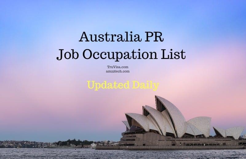 Australia PR SkillSelect Job Occupation List 2019 - AM22 Tech