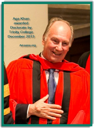 Aga Khan Receives Honorary Doctorate Trinity College