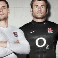 Rugby, Inghilterra: ecco la maglia nera che Nike ha studiato per Mondiale 2011 in Nuova Zelanda