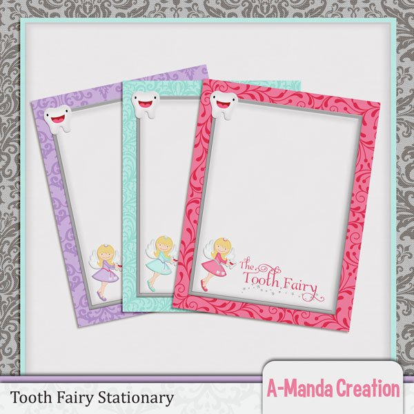 Tooth Fairy Printables, projects, tooth receipts, stationary and a