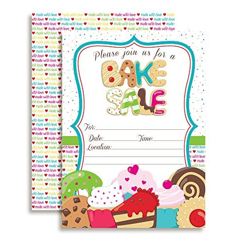 Amanda Creation Bake Sale Party Fill in Invitations Set of 20 with