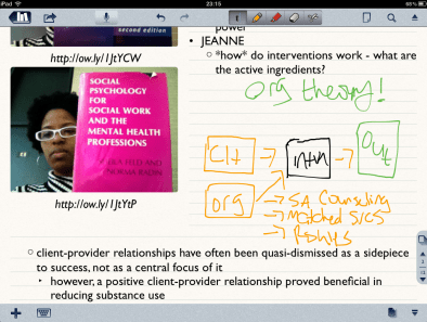 Screenshot of me using Notability