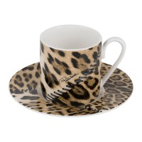 Buy Roberto Cavalli Africa Coffee Cups & Saucers - Set of ...