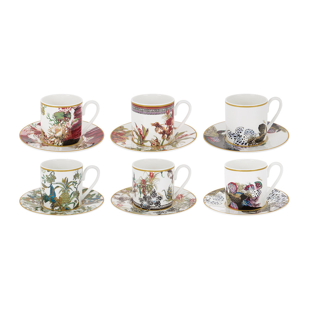Buy Roberto Cavalli Flowers Espresso Cup Saucer Set Of